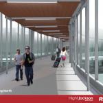 Bridge walkway- looking North
